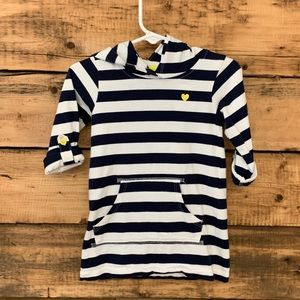 Carter's Blue/White Striped Top w/Hood Size 24M